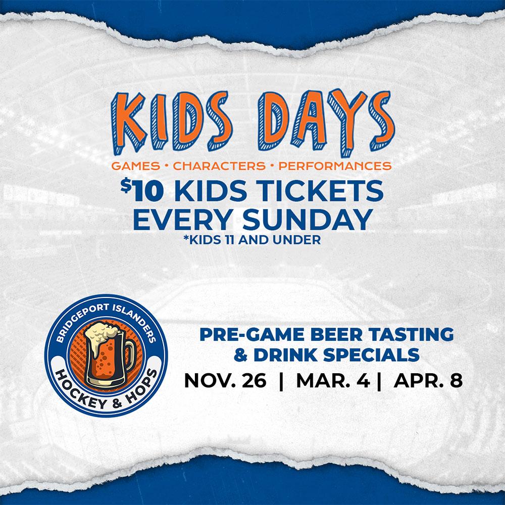 Bridgeport Islanders Kids Days events