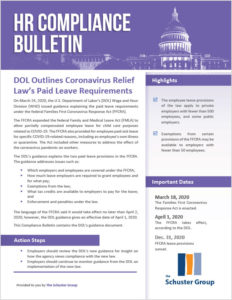 DOL Outlines Coronavirus Relief Law's Paid Leave Requirements