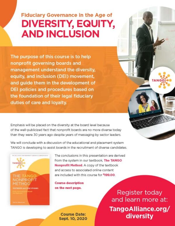 TANGO - Fiduciary Governance in the Age of Diversity, Equity, and Inclusion