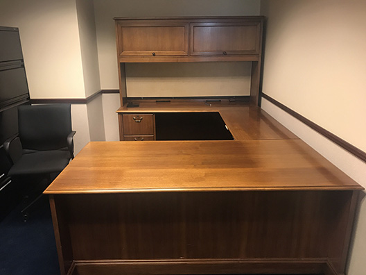 Full Set Desk and Cabinets