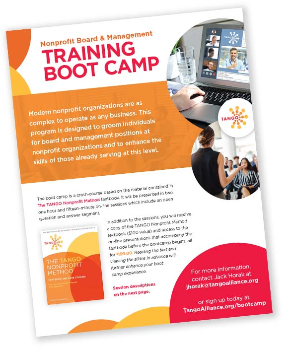 TANGO Nonprofit Board & Management Training Boot Camp