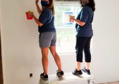 Kristin Goralski and Ninette LaPila at The Schuster Group Hartford Area Habitat for Humanity Build Day