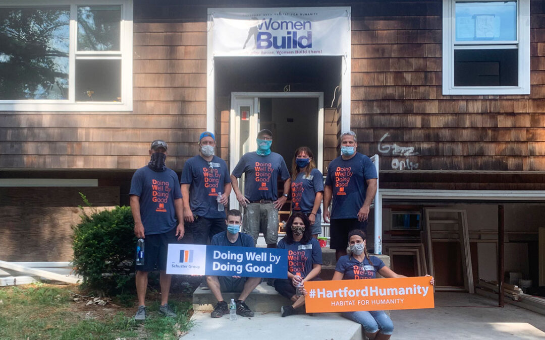 The Schuster Group volunteers at Hartford Area Habitat for Humanity