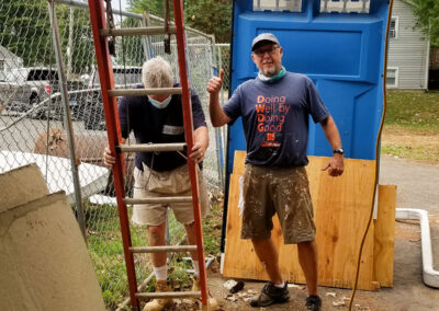 Rollin Schuster at the Schuster Group Hartford Area Habitat for Humanity Build Day