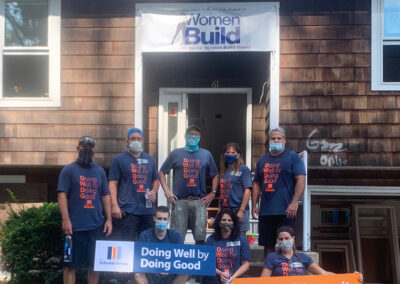 The Schuster Group team at Hartford Area Habitat for Humanity Build Day
