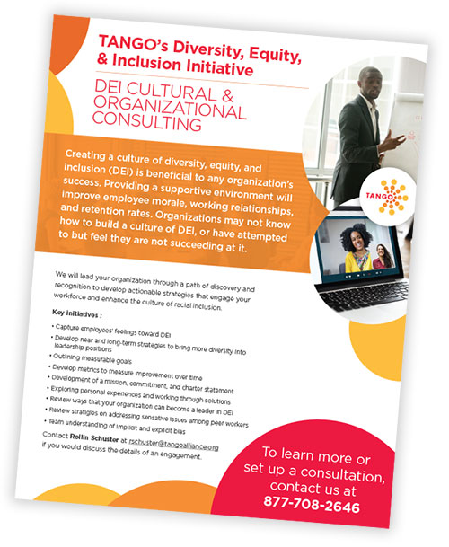 TANGO DEI Cultural & Organizational Consulting sellsheet