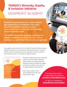 TANGO DEI Nonprofit Academy sellsheet