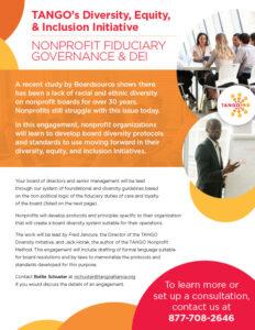 TANGO Nonprofit Fiduciary Governance DEI sellsheet