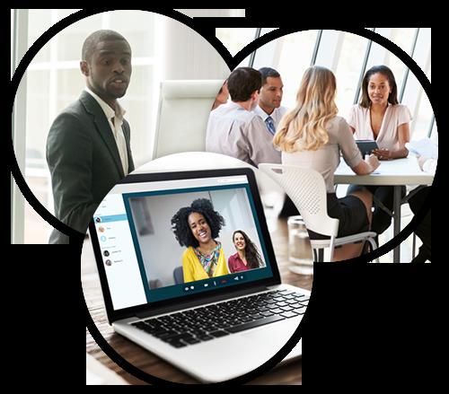 African-American professionals in board meetings