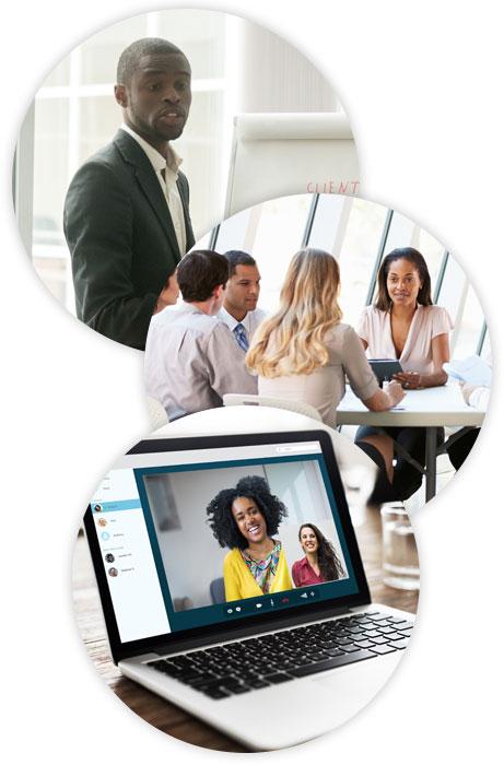 Afreican american professionals in board meetings