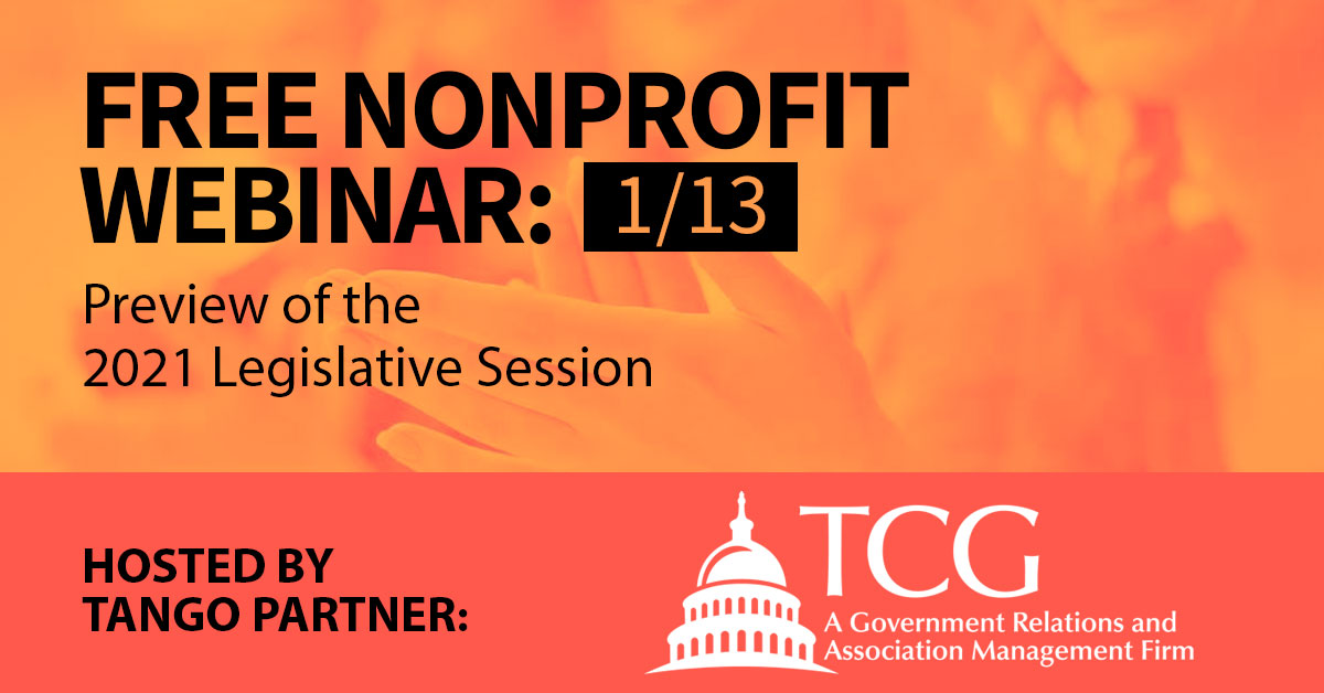 Tango Webinar - Preview of the 2021 Legislative Session with TCORS