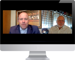 Jack Horak of TANGO and Louis Fawcett of Inside Charity zoom call
