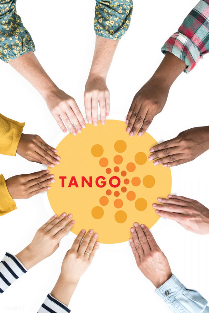 TANGO multi-cultural hands in circle