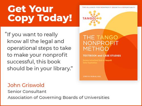The TANGO Nonprofit Method - guidebook for nonprofit organization success